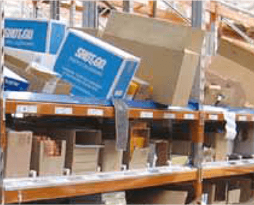 Carton-Live Storage for Commercial Warehouse Shelving