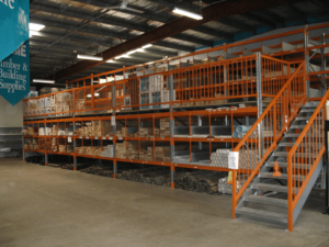 Mezzanine Raised Storage Areas